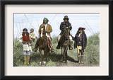 Geronimo and Natchez on Horseback during the Apache Wars, c.1886 Prints