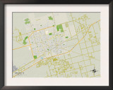 Political Map of Midland, TX Prints