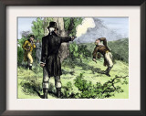 Alexander Hamilton Killed in a Duel with Aaron Burr, 1804 Posters