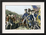 Surrender of British Army to Washington and Rochambeau at Yorktown, c.1781 Print