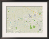 Political Map of Hillsboro, OR Print