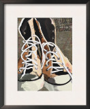 High Tops for Peace - Vintage Sneakers Posters by Lisa Weedn