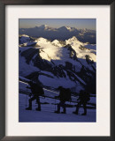 Climbing at Sunrise, Argentina Print by Michael Brown