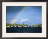 Rainbow Over Vershinino C18th St. Nikola Chapel, Kenozersky National Park. Lake Kenozero, Russia Prints by Igor Shpilenok