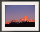Fitzroy Massif Peak at Sunset, Andes, Patagonia, Argentina, South America Posters by Pete Oxford