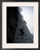 Ice Climbing up Steep Rock, USA Art by Michael Brown