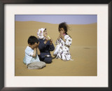 Children in Desert, Morocco Posters by Michael Brown