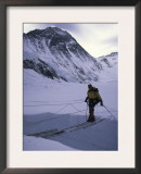 Crossing Over Crevase En Route to Everest, Nepal Prints by Michael Brown