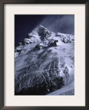 Mt. Everest from South with Dark Blue Sky, Nepal Prints by Michael Brown