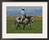 Woman Riding Quarter Horse, Colorado, USA Posters by Carol Walker