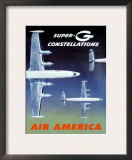 Fly Air America Super G Constellation Posters