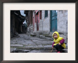Child Playing on the Street, China Posters by Ryan Ross