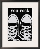 You Rock Black Sneakers Art by Lisa Weedn