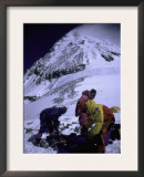 Climbers on Everest, Nepal Prints by Michael Brown