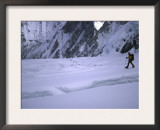 Climber Passing by High Camp, Nepal Poster by Michael Brown