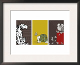 Retro Animals Triptych Art