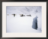 Camp at the Crevases Edge, Everest Print by Michael Brown