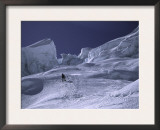 Climbing Through Seracs in the Khumbu Ice Fall, Nepal Print by Michael Brown