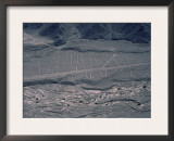 Aerial View of Nazca Lines on Mountain Side, Peru, South America Posters by Robert Fulton