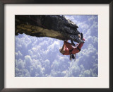 Climber on Edge of Rock, USA Prints by Michael Brown