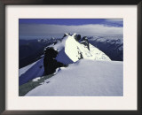 Climbing up a Ridge on Mt. Aspiring, New Zealand Prints by Michael Brown