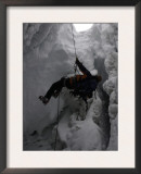 Climber in Crevasse, Switzerland Art by Michael Brown