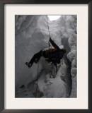 Climber in Crevasse, Switzerland Art by Michael Brown