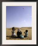 Children with Kite, Morocco Poster by Michael Brown