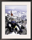 Climbing with Skiis Prints by Michael Brown