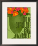 Miracles Vintage Green Trophy Prints by Lisa Weedn