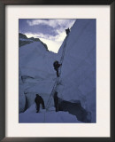 Crossing Ladders Through the Khumbu Ice Fall, Nepal Posters by Michael Brown