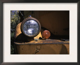 Front Light of an Orange Truck at a Car Cemetery in Colorado Prints by Michael Brown