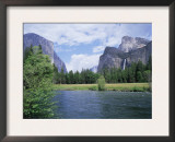 Bridalveil Falls (620 Feet) and the Merced River, Yosemite National Park, California USA Poster by David Kjaer
