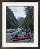 Kayakers on River, Chile Poster by Michael Brown