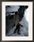 Ice Climbing up Steep Rock, USA Prints by Michael Brown