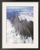 Aerial View of Summit Cone of Sangay, Dormant Volcano, Ecuador Poster by Doug Allan