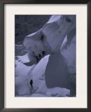 Climbing Khumbu Ice Fall, Nepal Posters by Michael Brown