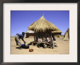 People by Hut, South Africa Art by Ryan Ross