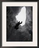 Climber in Snowy Crevasse, Switzerland Art by Michael Brown