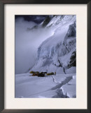 Camp One on the Southside of Everest, Nepal Print by Michael Brown