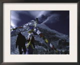 Prayer Flags at Everest Base Camp, Nepal Print by Michael Brown