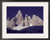 Cerro Torre (3128M) and Torre Egger Peaks, Patagonia, Argentina Prints by Leo & Mandy Dickinson