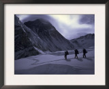 Climbing Lhotse, Everest in Nepal Print by Michael Brown