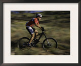 Fast Moving Mountain Biker, Mt. Bike Posters by Michael Brown