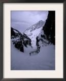 Ski Mountaineering Print by Michael Brown