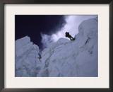 Rapelling Down Khumbu Ice Fall Prints by Michael Brown
