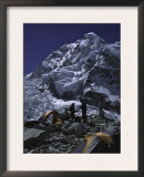 View of Mount Nuptse from Everest Base Camp, Nepal Posters by Michael Brown