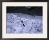 Mountaineering on Khumbu Ice Fall Art by Michael Brown