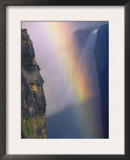 Victoria Falls with Rainbow in Spray, Zimbabwe Art by Pete Oxford