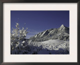 Winterscene of the Flatirons in Boulder, Colorado Prints by Dörte Pietron